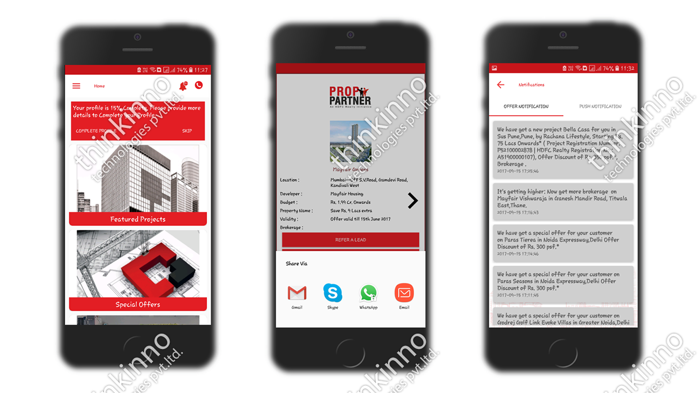 Mobile App Realty Partners - Thinkinno Technology